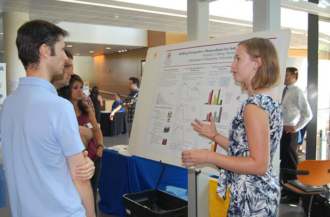 Presenting a poster at ResearchFest 2015